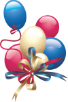 Colorful balloons PNG clipart 20